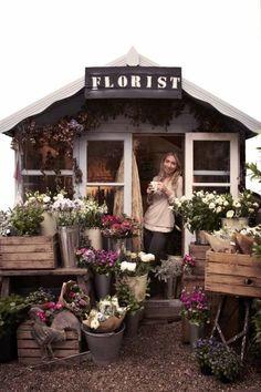 Florist Studio at Battersea Flower Station Florist Studio at Battersea Flower Station - Flower Truck, Flower Cart, Flower Shop Design, Flower Boutique, Flower Studio, Outdoor Sheds, Flower Stands, Garden Shop, Garden Planning