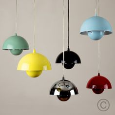 Verner Panton Style Flower Pot Ceiling Light Pendant