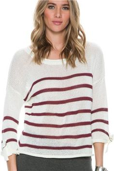 Stripe knit sweater. http://www.swell.com/New-Arrivals-Womens/SWELL-LAKE-HOUSE-STRIPED-SWEATER?cs=YB