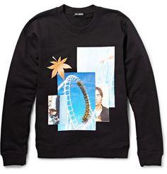 Raf Simons Printed Loopback Cotton-Jersey Sweatshirt | MR PORTER