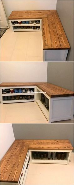 DIY Shoe Rack Ideas Kreative DIY Schuhregal Ideen Kitchen remodeling and design ideas Article Shoe Shelf Diy, Diy Shoe Rack, Diy Rack, Wood Shoe Rack, Shoe Rack Bench, Shoe Rack Pallet, Shoe Rack Mudroom, Shoe Rack Out Of Pallets, Pallet Furniture Shoe Rack