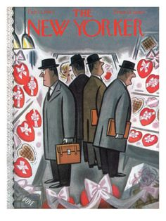 The New Yorker Cover - February 13, 1960  by Leonard Dove