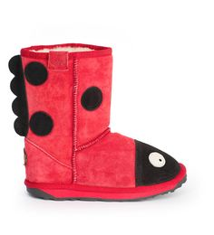 EMU Ladybug boots!!! Nomeie NEEDS these for winter, and I can't find them anywhere in her size !@##$!