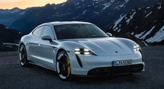Porsche unveiled the final production version of its first electric car, the Taycan, Wednesday. The car was introduced in two high performance versions, the 670 horsepower Taycan Turbo and the 751 horsepower Taycan Turbo S. Audi, Porsche Taycan, Bmw, Porsche Wheels, Porsche Carrera, Electric Sports Car, Best Electric Car, Porsche Electric Car, Mercedes Benz