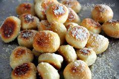 PRETZEL BITES – Parmesan or Cinnamon and Sugar with glaze.