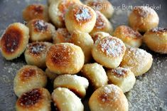 PRETZEL BITES – Parmesan or Cinnamon and Sugar with glaze.