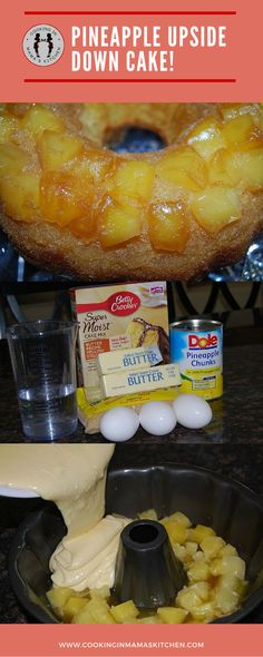 Delicious Dessert Recipe: Pineapple Upside Down Cake! Easy-To-Make. Perfect for breakfast, dessert or a snack. Bring it to a party or just make it for yourself. CLICK here for the recipe: http://www.cookinginmamaskitchen.com/pineapple-upside-down-cake-recipe/