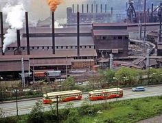 Net Photo: 1750 & 1747 Pittsburgh Railways PCC at Pittsburgh, Pennsylvania by John F Bromley Pittsburgh Neighborhoods, Steel Mill, My Kind Of Town, Ohio River, Light Rail, Industrial, Pittsburgh Pa, Great Places, Places To Visit