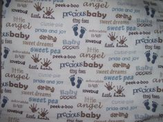 ADORABLE BABY FLANNEL FABRIC