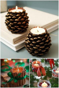 handmade decorations 15 inspirational decorations that will bring Christmas and New Year closer Pine Cone Decorations, New Years Decorations, Handmade Decorations, Christmas Decorations, Decoration Table, Pine Cone Art, Pine Cone Crafts, Pine Cones, A Christmas Story