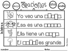 Mis oraciones {Complete the sentence in Spanish} by Bilingual Scrapbook Spanish Lessons For Kids, Learning Spanish For Kids, Spanish Teaching Resources, Spanish Activities, Writing Activities, Learn Spanish, Reading Resources, Bilingual Kindergarten, Bilingual Classroom