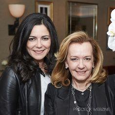 Céline Richard and Caroline Scheufele © Olivier Braive for Précieux webzine #Baselworld #Watch #Jewelry #Behindthescene #CarolineScheufele #Chopard #Party #Winetesting