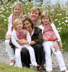 Prince Willem-Alexander (1967-living2013) Netherland & Princess Máxima Zorreguieta Cerruti (1971-living2013) Argentina with their 3 children: 1. Princess Catharina-Amalia (Catharina-Amalia Beatrix Carmen Victoria) (2003-living2013).  2. Princess Alexia (Alexia Juliana Marcela Laurentien) (2005-living2013).  3. Princess Ariane (Ariane Wilhelmina Máxima Inés) (2007-living2013).