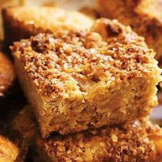 This recipe is great if you& looking to use up seasonal apples. Make this delicious, moist apple flapjacks for an afternoon treat and wash it down with a hot cup of team at Tesco Real Food today! Bbc Good Food Recipes, Baking Recipes, Sweet Recipes, Cookie Recipes, Dessert Recipes, Yummy Food, Cooking Apple Recipes, Aga Recipes, Savoury Recipes