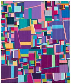 """Iris"" by Annette Guerrero Palette inspiration...loads of solids / variety of silks."