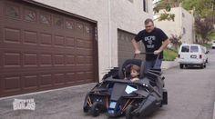 Super-Fan Builds A Batmobile Baby Stroller