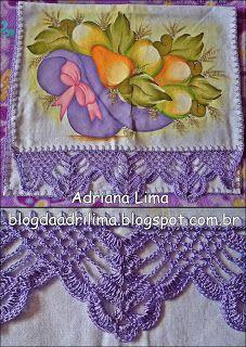 Adriana Lima: Barradinhos Crochet Flower Tutorial, Crochet Lace Edging, Crochet Motifs, Crochet Borders, Filet Crochet, Crochet Flowers, Crochet Stitches, Crochet Patterns, Diy Crafts Crochet