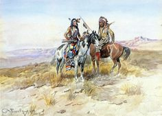 BY CHARLES MARION RUSSELL..........SOURCE PAINTINGSALLEY.COM........