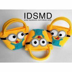 Crochet Wallet, Crochet Backpack, Crochet Purses, Minion Crochet, Crochet Beanie, Crochet Yarn, Quick Crochet, Crochet For Kids, Knitted Bags