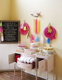 Sprinkled with Love First Birthday Party Dessert Table