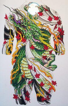 Kelu 1 Tattoo, Tatoo Art, Body Art Tattoos, Tattoo Life, Sleeve Tattoos, Dragon Tattoo Full Back, Dragon Tattoo Art, Dragon Art, Japanese Dragon Tattoos