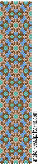 -Схемы для бисероплетения-: 4 схемы браслетов - мозаика / 4 free peyote patterns