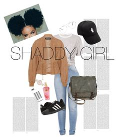 """""""Shoddy girl"""" by rubixfashionista ❤ liked on Polyvore featuring T By Alexander Wang, Balmain, adidas, Oris, Christian Paul and Victoria's Secret"""