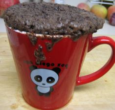 Messy Microwavable Chocolate Cake in a Mug, Using Hot Chocolate Mix