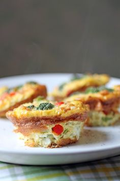 Egg and veggie muffins. I'm sure I'd spray the pan with regular oil and not use coconut oil. But sounds yummy!