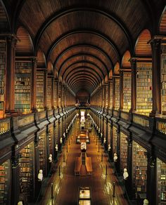 The Long Room, The Library of Trinity College, Ahmet Ertug, Dublin, 2008.