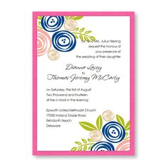 eh? Touched with Roses Wedding Invitations