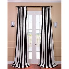 @Overstock - The Cabana Black Stripe Cotton Curtain provides a casual feel to any window. This panel is tailored from the finest cotton with great attention given to each step of the production process and finished with a weighted hem and shade-enhancing lining.http://www.overstock.com/Home-Garden/Cabana-Black-Stripe-Cotton-Curtain-Panel/7954346/product.html?CID=214117 $71.59