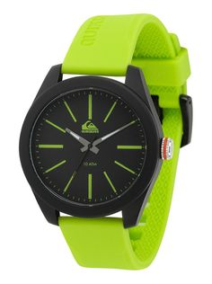 492d4ee10dfb4 Quiksilver Analog The Young Gun Men´s Watch - Green Black - Black Blue