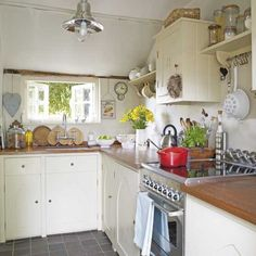 Compact country kitchen.