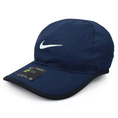 174a6a88af06e Nike Dry-Fit Feather Light Cap Hat Running Tennis Golf Sports Navy  679421-454 #Nike #TopHat