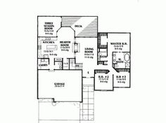 Eplans Cottage House Plan - Three Bedroom Cottage - 1872 Square Feet and 3 Bedrooms from Eplans - House Plan Code HWEPL62081