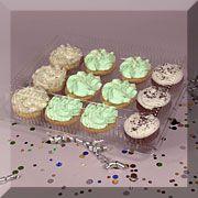 $113  Clear Plastic Cupcake Clamshells - Standard