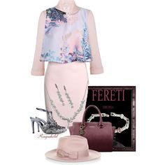 Dagen antrekk / Today's Outfit by ragnh-mjos on Polyvore featuring Boohoo, Miss Selfridge, Alberta Ferretti, Accessorize, outfitoftheday and Fereti