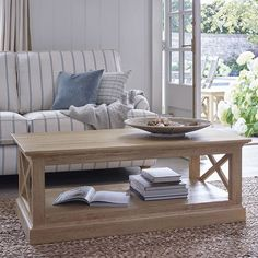 Let the spring in this season! Our Coastal range will whisk you off to the seaside with it's light, sand coloured finish. Tap the link in our bio to shop.  #coastal #coffeetable #oakfurniture #livingroomfurniture #livingroominspo