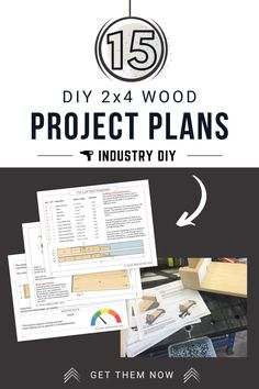 DIY Project Plans that includes prep, material list, tools required, difficulty level, cut list, step by step instructions, finishing tips and Sketchup file. More FREE plans and step by step guides at Industry DIY!