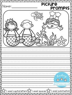 Free writing prompt: picture prompts writing for first grade. this is also great for kindergarten and second grade to build confidence in writing. 1st Grade Writing Prompts, Opinion Writing Prompts, First Grade Writing, Writing Prompts For Kids, Picture Writing Prompts, Writing Activities, Writing Practice, Children Writing, Writing Rubrics