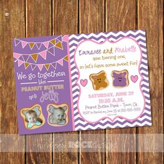 We Go Together Like Peanut Butter & Jelly  PBJ by DreamRockDesigns