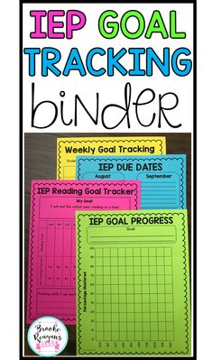 IEP goal tracking binder is my number one best seller for special education resources. This helps keep all your data organized and in ONE location! resources IEP Goal Tracking Binder- Data Collection for Special Education Geek Culture, Life Skills Classroom, Classroom Ideas, Future Classroom, Classroom Supplies, Autism Classroom, Data Binders, Iep Binder, Goal Tracking
