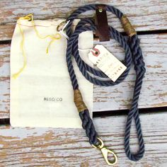 handmade rope dog leash.