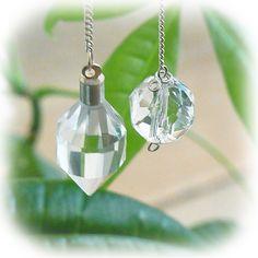"Genuine stone   A Himalaya crystal pendulum -  crystal, an angel, and healing one-house house"" Crystal Garden   Mejiro """