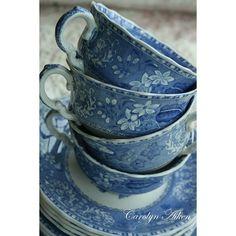 Royal Albert Caroline Pattern-Trio- Vintage Tea Set-Tea cup saucer... ❤ liked on Polyvore