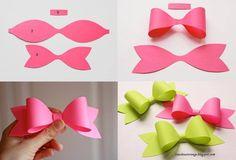 DIY paper ribbons