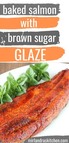 Use your oven to make this easy baked salmon. No need for special planks or other grilling equipment! You can use foil to keep the clean up simple. The brown sugar and spice glaze is delicious - the perfect match for a good salmon. Oven Baked Salmon, Baked Salmon Recipes, Fish Recipes, Seafood Recipes, Healthy Recipes, Seafood Dishes, Quick Recipes, Delicious Recipes, Healthy Food