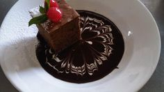 Warm Chocolate Gateauxe with Rum Ganache