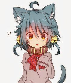 Shared by Neko Giz. Find images and videos about cute, anime and kawaii on We Heart It - the app to get lost in what you love. Anime Wolf, Manga Anime, Gato Anime, Manga Kawaii, Loli Kawaii, Kawaii Chibi, Cute Chibi, Anime Art, Anime Girl Neko